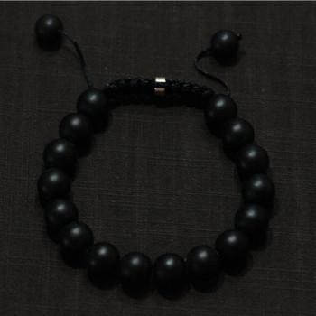 Шамбалы ювелирные изделия черный матовый камень браслеты для женщин / мужчин шамбалы ...