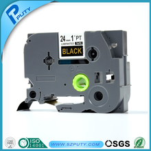 Compatible P-touch tape TZ-354 gold on black TZ tape cartridge for labeling machine