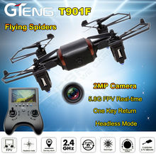 Free shipping!T901F 6-Axis Gyro RC Drone Quadcopter RTF UAV UFO With FPV HD Camera Helicopter