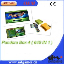 New Arrival Original Pandora Box 4 645 in 1  Jamma Arcade Game cartridge /jamma Multi game board support CRT and LCD for arcade(China (Mainland))