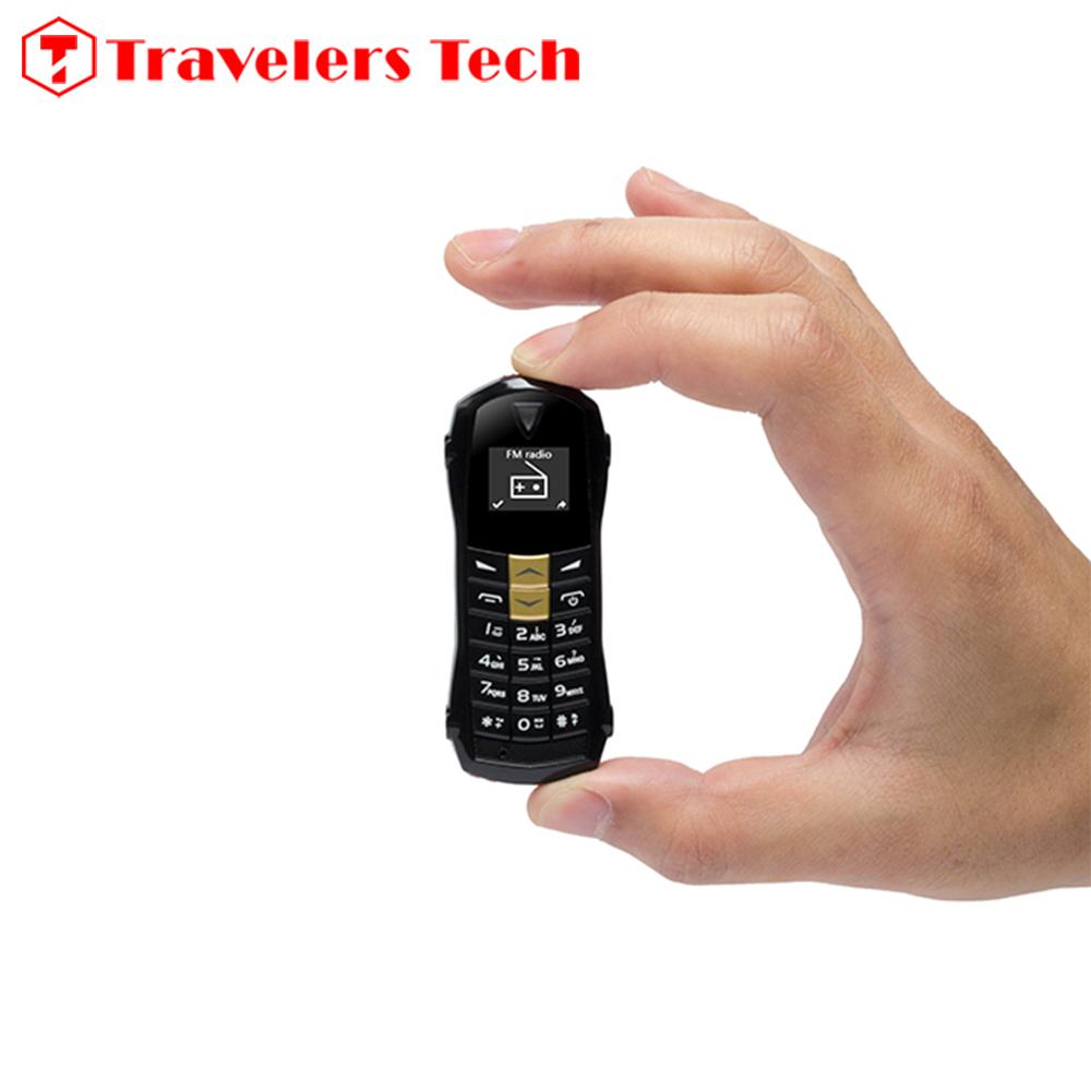 Smallest Car Key Shape Mobile phone NEWMIND F1 MINI 0.66Inch Tiny Screen Cheap Small Size Cell Phone 180mAh Bluetooth FM Radio(China (Mainland))