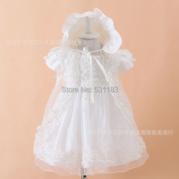 Free shipping 2015 First Communion Dresses Baby Girls Brithday Dress West Baptism Little Girls Pageant Dresses(China (Mainland))