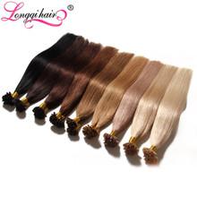 "18"" 20"" 22"" 24"" 100g U Tip Nail Tip Hair Extensions Brazilian Remy Human Hair Keratin Fusion Hair Extensions 100 Strands Of Hair(China (Mainland))"