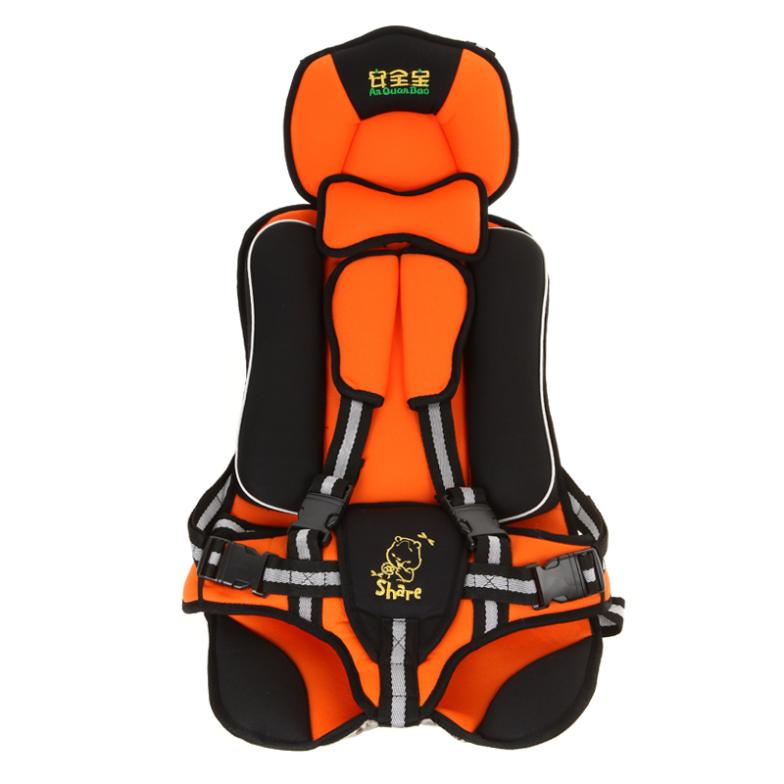 acosun baby toddler kids infant car safety booster seat cover harness cushion orange in. Black Bedroom Furniture Sets. Home Design Ideas