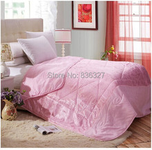 Summer or Autumn air quilt for twin full queen size /Air conditioning blanket/Emulation silk quilt(China (Mainland))