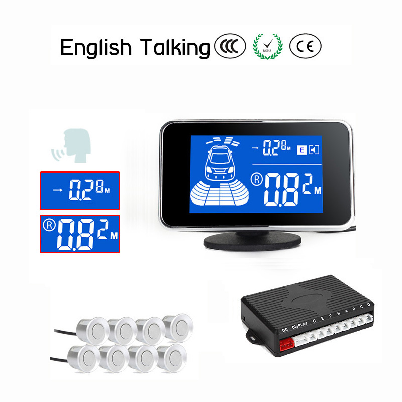 New Arrival HD LCD Wire Car parking sensor system Human speaker/ Beep reminder/ Silence optional Automatic startup system(China (Mainland))