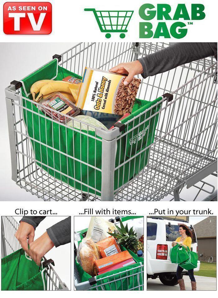 Grab Bag Clip-to-Cart Shopping Bag(China (Mainland))