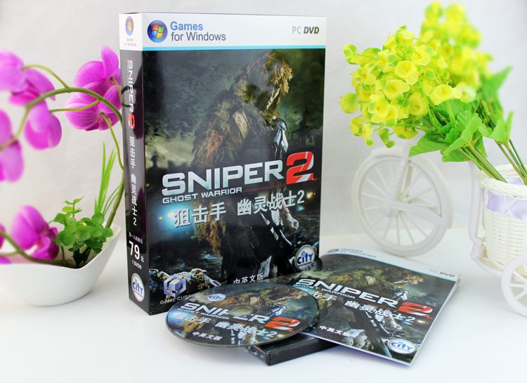 2015Original box PC games Sniper: Ghost Warrior 2 windows Serial Number FPS DVD sofwares - Professional Software Shop store