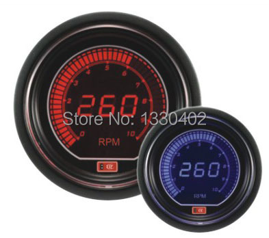 2.5 inch LCD 2colors(red&blue light) gauge car LCD RPM meter auto gauge car accessories tachometer(China (Mainland))