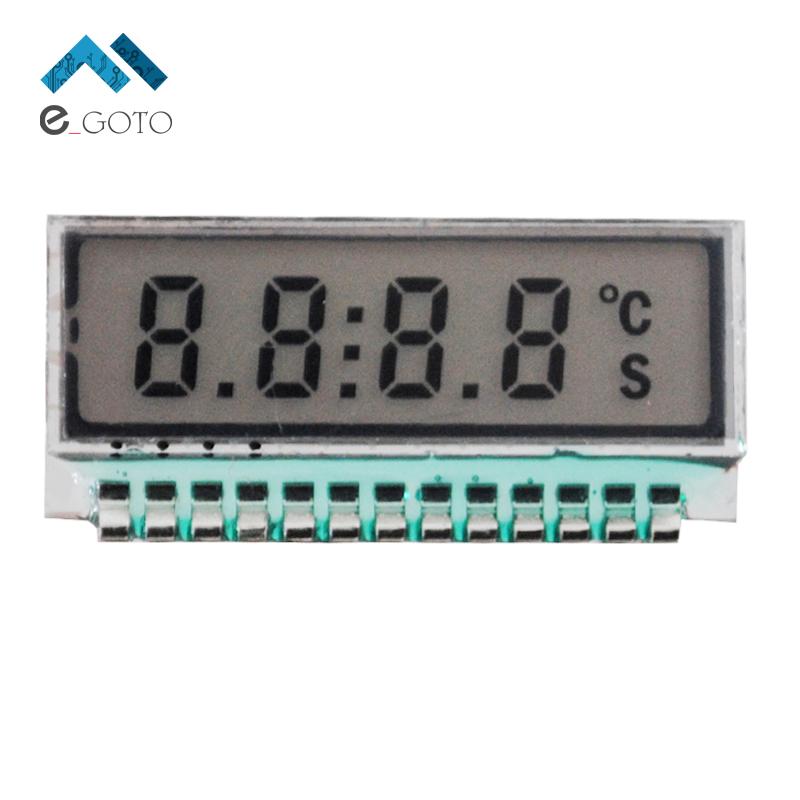 GDC0209 Accessories 4 Bit LCD Display Module Digital 6 O'Clock 7 Segment 4 Digit TN Small Size Metal Pin 2.5V LED Backlight Pan(China (Mainland))