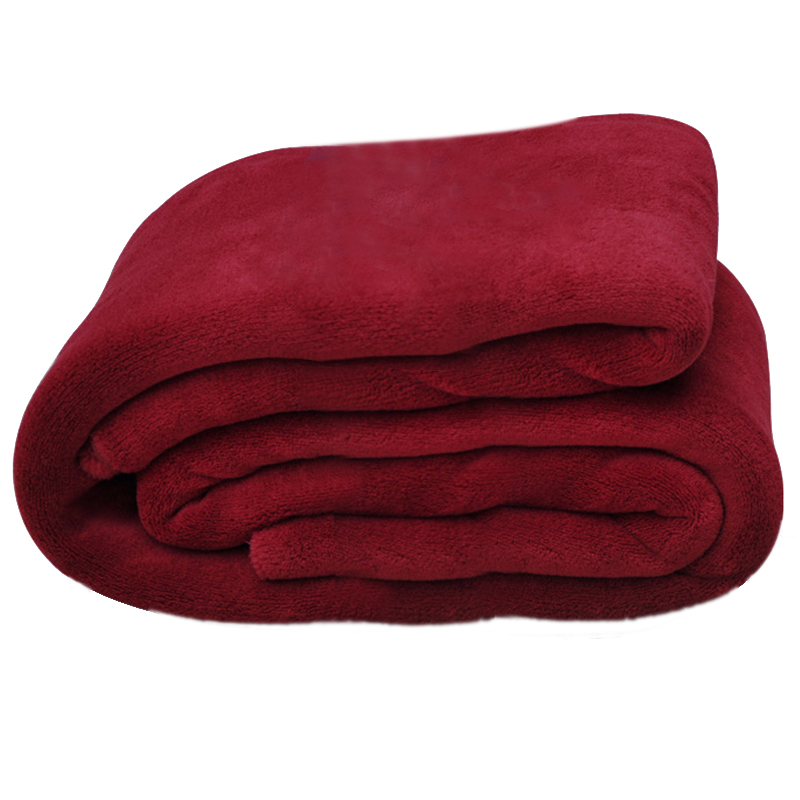 Super Soft Warm Rug Luxury plush Fleece Throw Blanket, Suitable for Chair or Bed, Machine Washable wine red 200*230 cm(China (Mainland))