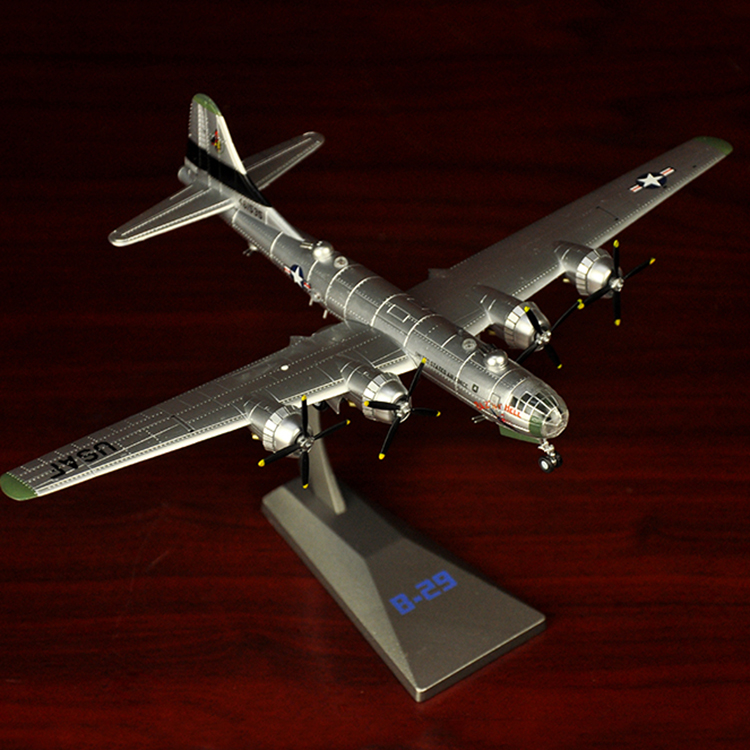 1:144 World War II aircraft model alloy B-29 bomber American B29 simulation static military model finished
