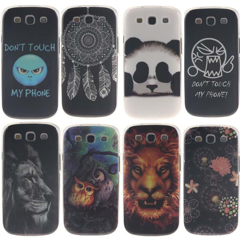 Ultra Thin Cute Panda Soft TPU Fundas For Samsung Galaxy S3 I9300 Case luxury Silicone Back Cover for Samsung S3 I9300 Coque(China (Mainland))