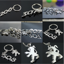 wholesale retail  3D metal auto Car badge Logo Keychain Key Chain Keyring  Key Fob accessories For Peugeot  206 308 3008 408 508(China (Mainland))