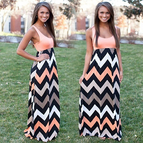 2016 New ArrivalWomen's Sexy Summer Long Dress Maxi Boho Evening Party Dresses Beach Sundress 3FW6D