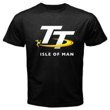 Buy 2017 Fashion New Isle Man TT Race Logo Men's Black T-Shirt Size S 2XL 100% Cotton Funny O Neck T Shirt for $13.01 in AliExpress store