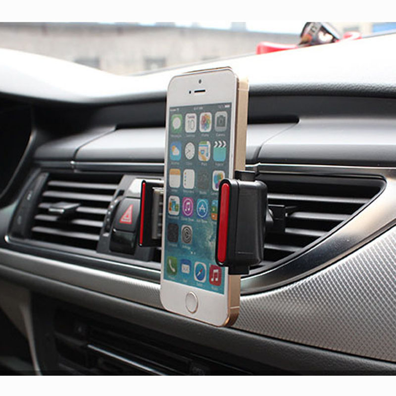 New arrival Air Vent Car Mount Holder For iPhone 6 Plus 360 degree turning 3 in1 car holder Suitable for all vehicles dashboard(China (Mainland))