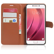 Buy Wallet Design Fashion Litchi Texture Leather Case Samsung Galaxy C7 C7000 Flip Cover 5.7 inch Magnetic Protective Shell for $5.50 in AliExpress store