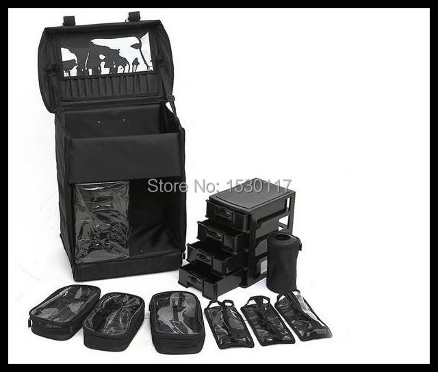 professional makeup bag professional makeup trolley case makeup case box aluminum(China (Mainland))