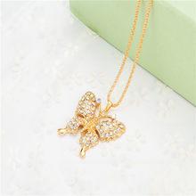 Nueva Mujer exquisita moda mariposa cristal llaveros de dije para bolso accesorios Hombres Calientes mejor pareja de moda regalo joyería K2166(China)