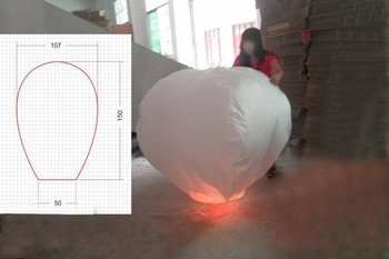 Large 3D   High Quality Oval-Shaped Sky Lantern  Multicolor -----Free Shipping