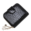 Designer High Quality Small Wallet 2016 New Women Fashion Patent Leather Change Purse Ladies Embossing Cowhide