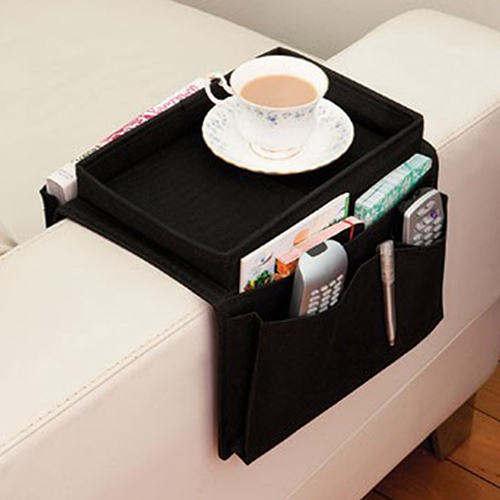 Arm Rest Chair Settee Couch Sofa Remote Control Table Top Holder Organiser Tray(China (Mainland))