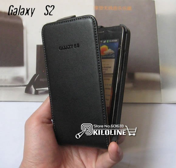 Gift Screen Film!! Genuine Leather Case Cover For Samsung Galaxy S2 i9100