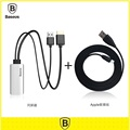 100 Original Baseus HD Display Adapter MP3 WAV Cable For Iphone 5 5s 6s 6splus Cable
