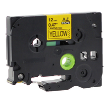 Molshine 1 Pack Compatible Label Tape for Brother TZe-631 Black on Yellow (0.47inch 1/2inch 12mm) 8m