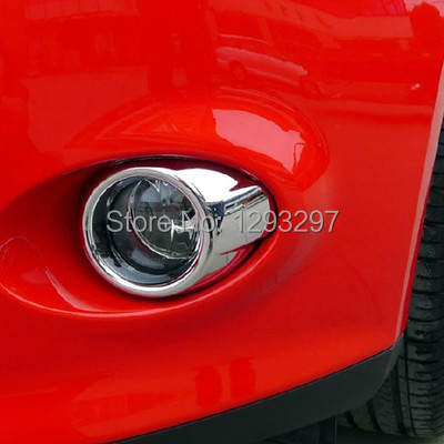 With Track Number Free Shipping New Brand Chrome Front Fog Light Lamp Cover Trims For Ford Focus 2013 7XSD78(China (Mainland))