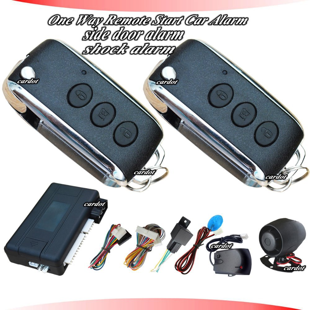 cardot car security system is with remote start function,shock sensor anti-theft,motion alarm anti-theft,auto window up(China (Mainland))