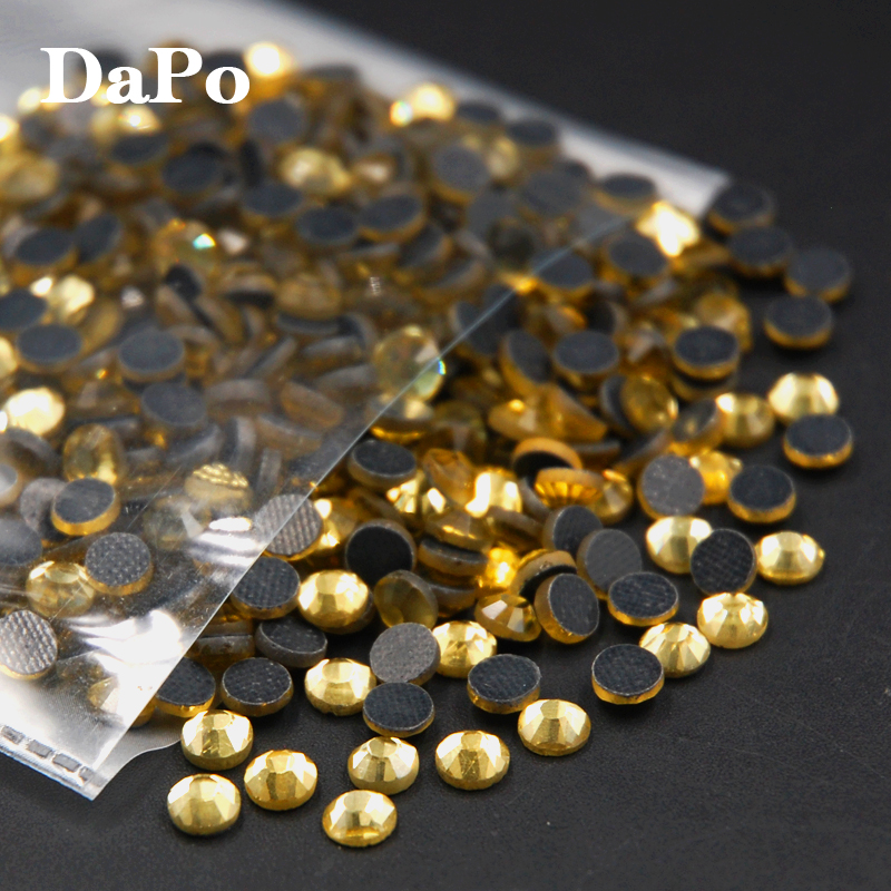 Best quality Jonquil Color SS6-SS30 DMC Hot Fix Rhinestones,DIY ,Machine cut iron-on Garment Crystals Use For Dress(China (Mainland))