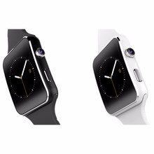 2016 New Bluetooth Curved Touch Screen Smart Watch X6 1.54′  Sport Watch For iPhone Android Phone With Camera Support SIM Card