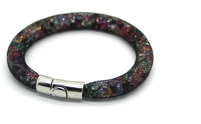 Hot Hot Stardust Bracelet Chain Network Crystal Internal Magnetic Buckle Bracelet Charm Bracelet Packing Men Retro