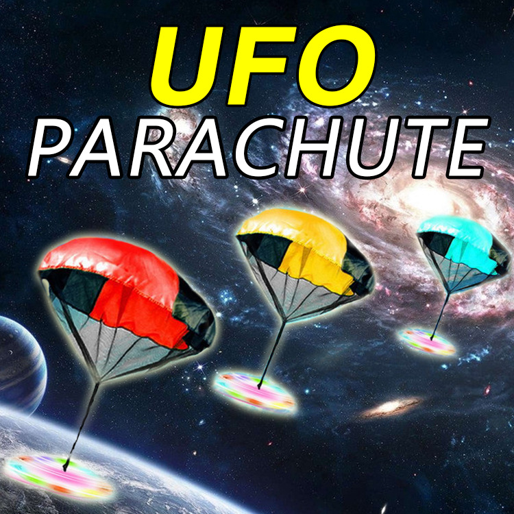 Light Flash Hand Throwing Speed Running Soldier Outdoor Sports Children's Kids Games China Mini Play UFO Parachute Toy(China (Mainland))