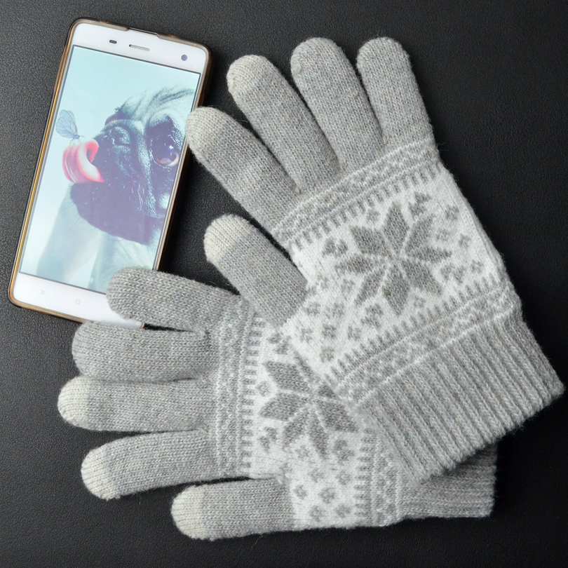 Winter Womens Gloves For Touch Screens Men Fleece TouchScreen Gloves For Smartphone iGlove Christmas Gifts Finger Mittens Gloves(China (Mainland))