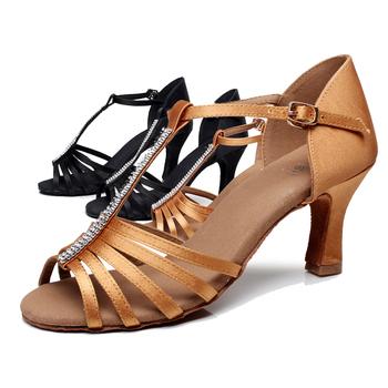 Лучшие Продажи женщин девушки Дамы Сандалии Профессиональная Атласная Rhinestone Бальные/Танго/Танцевальная Обувь Продвижение Оптовая