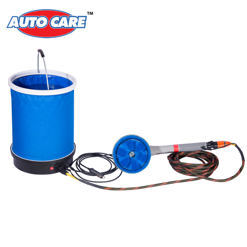 Portable Car Washer Car Washing System Machine Electric 12V Automotive Brush +20L Foldable Bucket +High Pressure Car Wash Pump(China (Mainland))