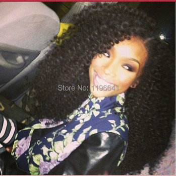 150density natural looking kinky curly brazilian hair lace front wig