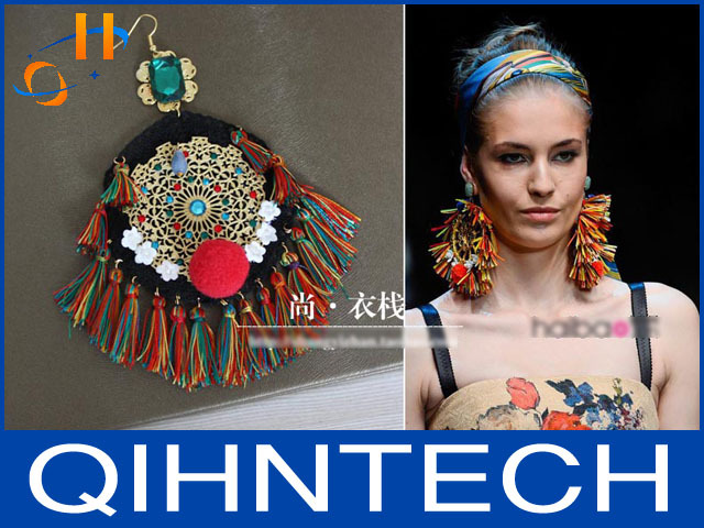 2013 Exclusive handmade Spring Summer catwalk models Sicilian style Full panicle spike earrings<br><br>Aliexpress