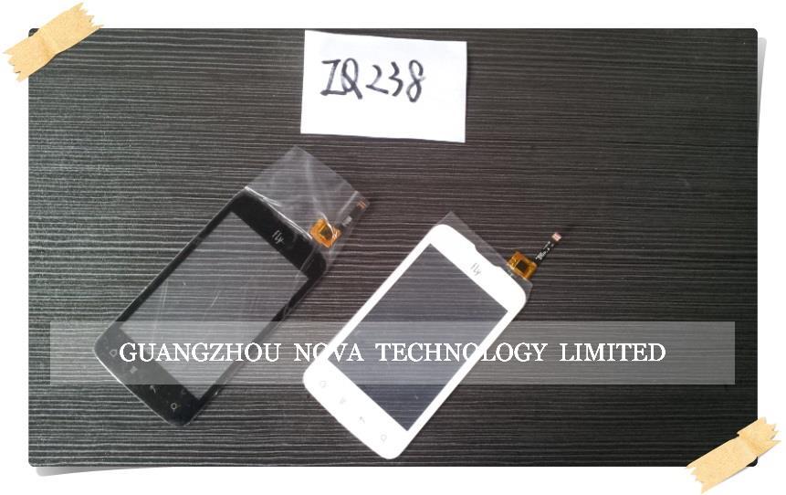Original Black/White For FLY IQ238 238 Touch Screen Digitizer Glass Lens Sensor Screen + 3M Sticker Adhesive