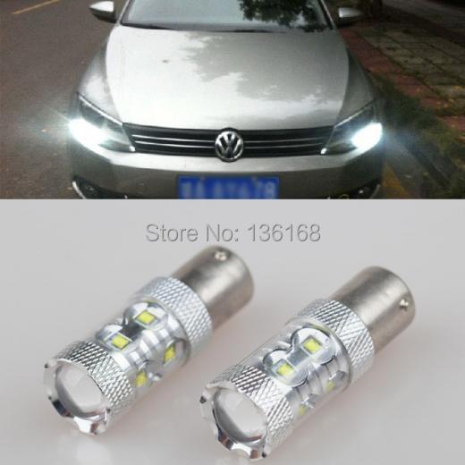 Stock vw jetta mk6 10-14 50W 6000K Xenon White LED Bulb daytime Lights 1156 Cree Chips Led Signal Reverse Backup Light