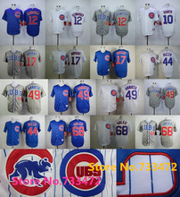 Discount Sale Chicago Cubs #49 Jake Arrieta Jersey 12 Kyle Schwarber 44 Anthony Rizzo 17 Kris Bryant 22 Addison Russell Jerseys(China (Mainland))