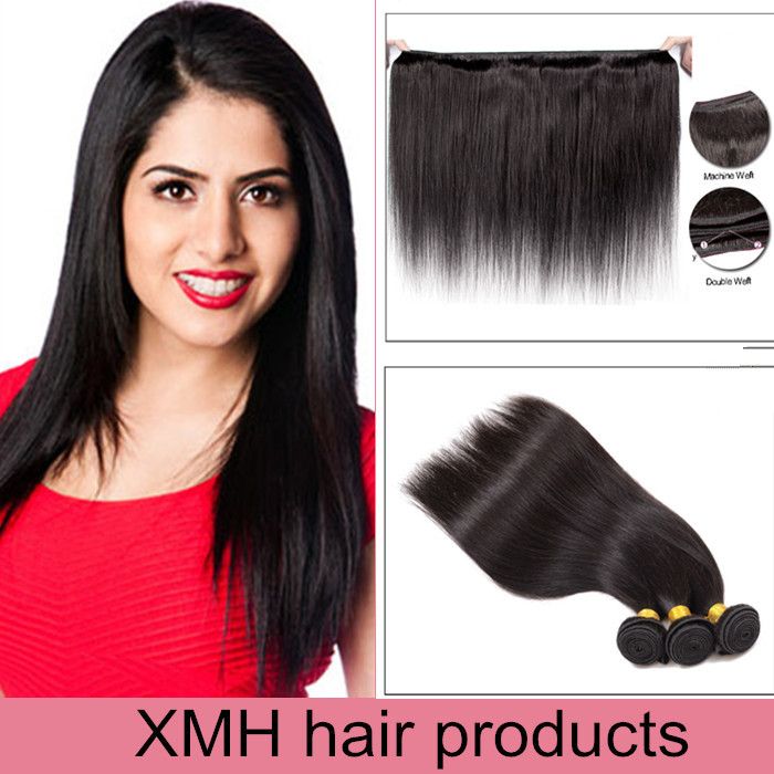 7A indian remy hair straight cheap unprocessed hair bundles human hair weave wholesale distributors india human hair straight(China (Mainland))