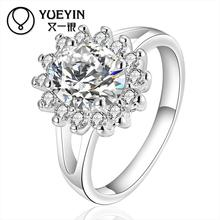 Buy Brilliant Zircon rings Wholesale silver plated rings women wedding party fashion jewelry wife anillos mujer for $1.01 in AliExpress store