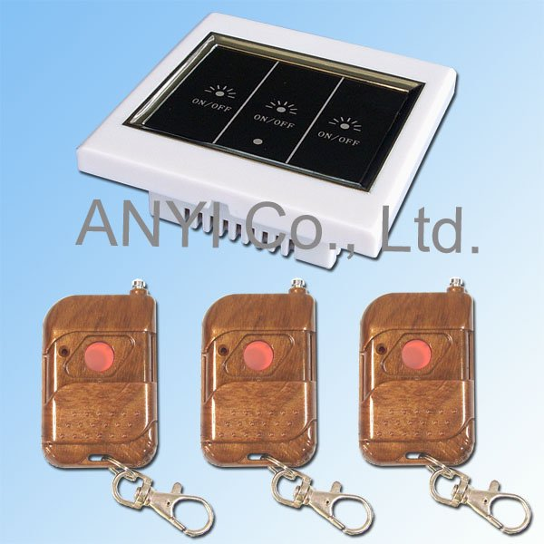 3 Gang Wireless Remote Control Touch Wall Light Switch , Control Lamps Light By Broadlink Smart Home(China (Mainland))
