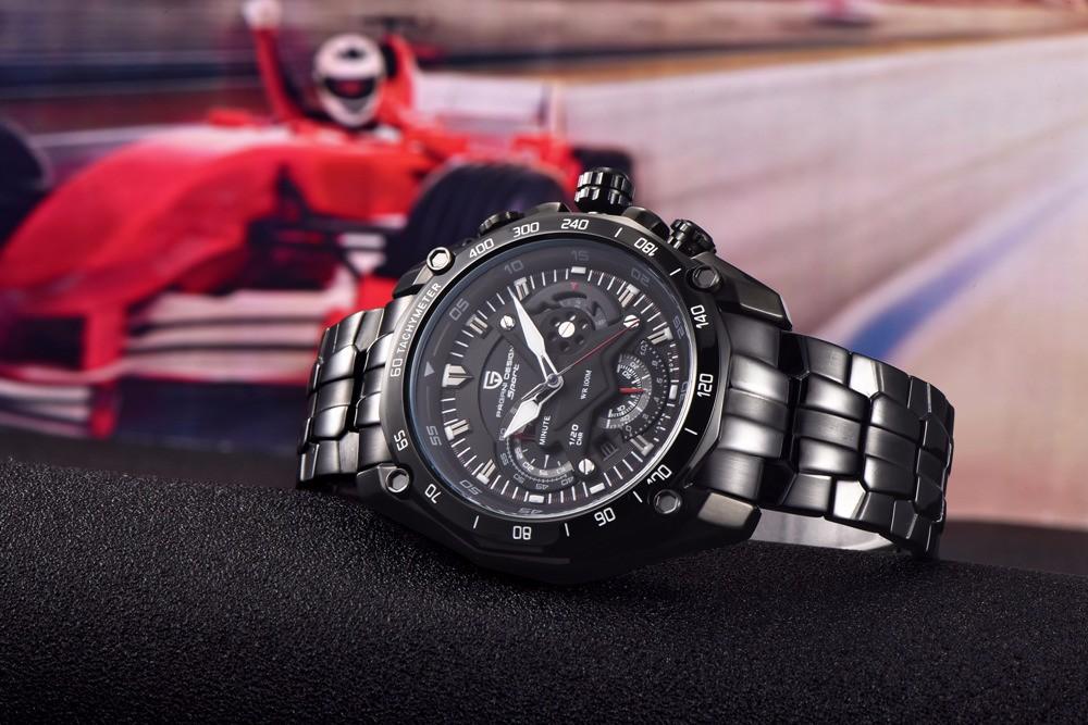 Кварцевые Часы Мужчины Хронограф Часы Люксовый Бренд Спорт Водонепроницаемый Мужчины Военный Наручные Часы Армейцы Часы relojes hombre