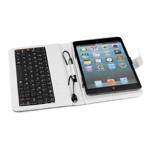 """Гаджет  Unique Sale! Funda Case con Teclado Puntero Soporte para Tablet 7"""" Micro USB Color Blanco None Изготовление под заказ"""