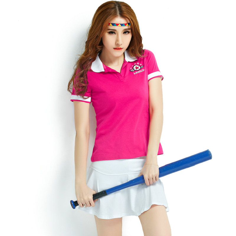 Plum baseball sets Anti wrinkle girl shirt Tennis summer short skirt clothing body friendly women sport wear(China (Mainland))